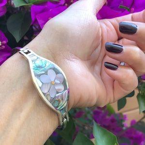 Sterling Silver Abalone inlay Bracelet